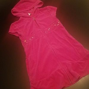 Justice Pink Terry Swim Cover sz 8